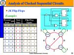 analysis of clocked sequential circuits7