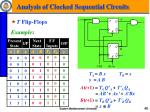 analysis of clocked sequential circuits8