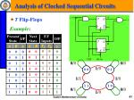 analysis of clocked sequential circuits9