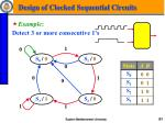 design of clocked sequential circuits