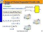 design of clocked sequential circuits with d f f