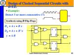 design of clocked sequential circuits with d f f1
