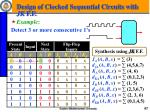design of clocked sequential circuits with jk f f