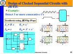design of clocked sequential circuits with jk f f1