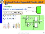 design of clocked sequential circuits with t f f1