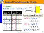 design of clocked sequential circuits2