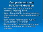 compartments and pollution extraction
