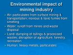 environmental impact of mining industry