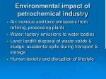 environmental impact of petrochemical industry