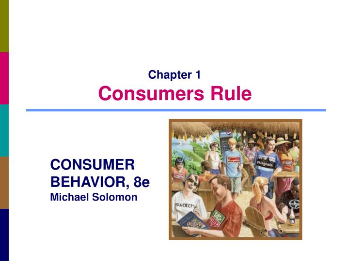 chapter 1 consumers rule n.