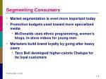 segmenting consumers