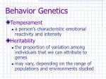 behavior genetics10