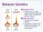 behavior genetics9