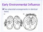 early environmental influence