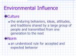 environmental influence17