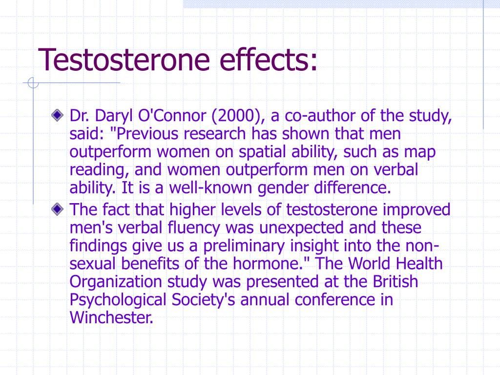 Testosterone effects: