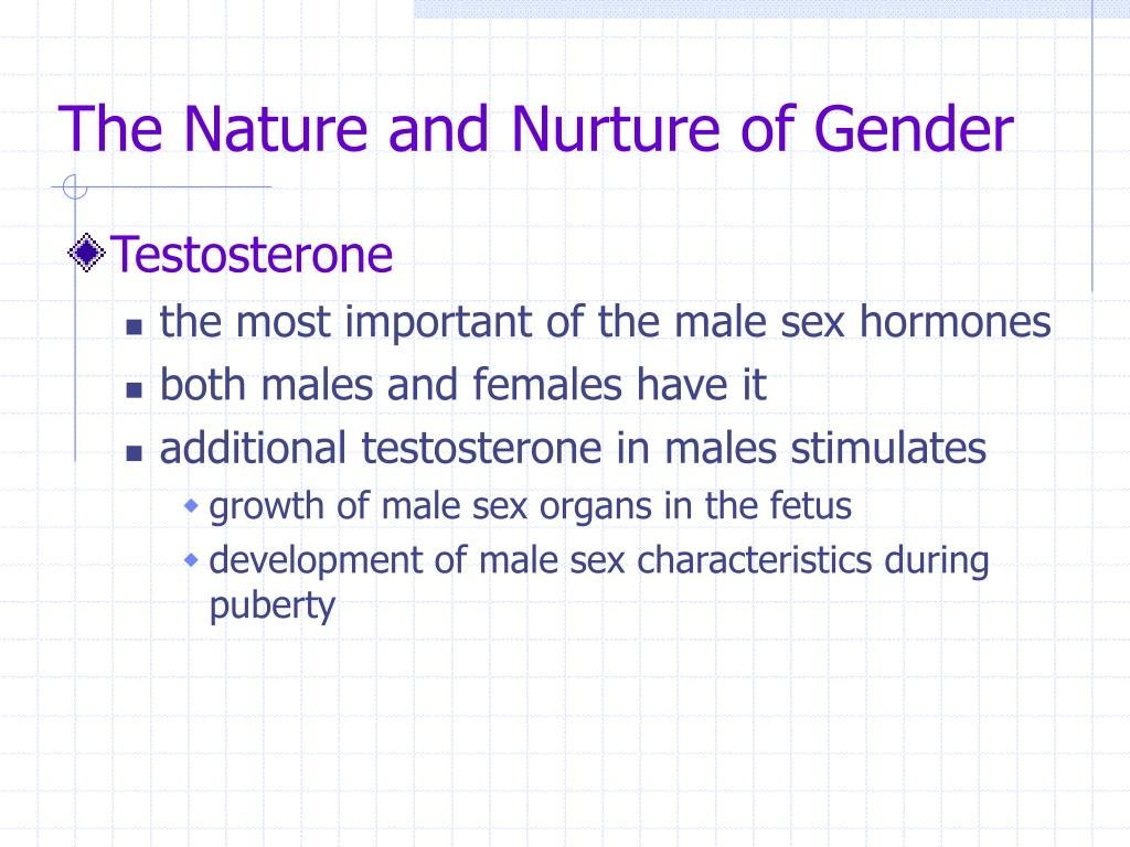The Nature and Nurture of Gender