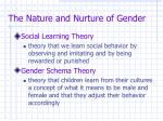the nature and nurture of gender25