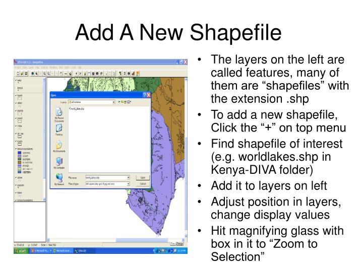 Add A New Shapefile