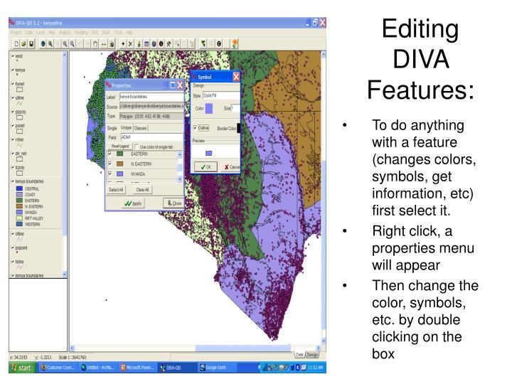 Editing DIVA Features: