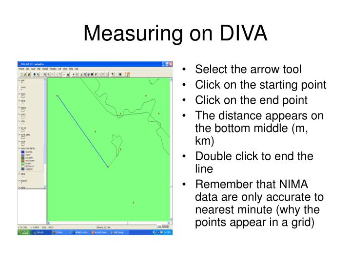 Measuring on DIVA
