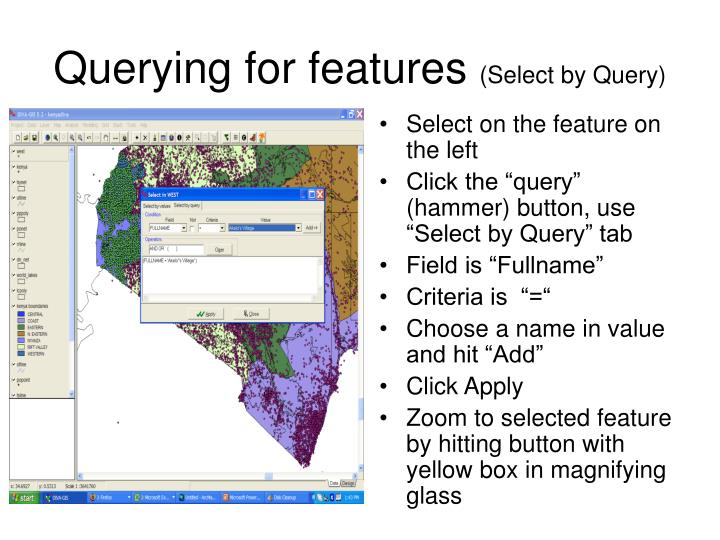 Querying for features