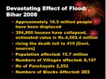 devastating effect of flood bihar 2008