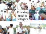 providing relief to villagers