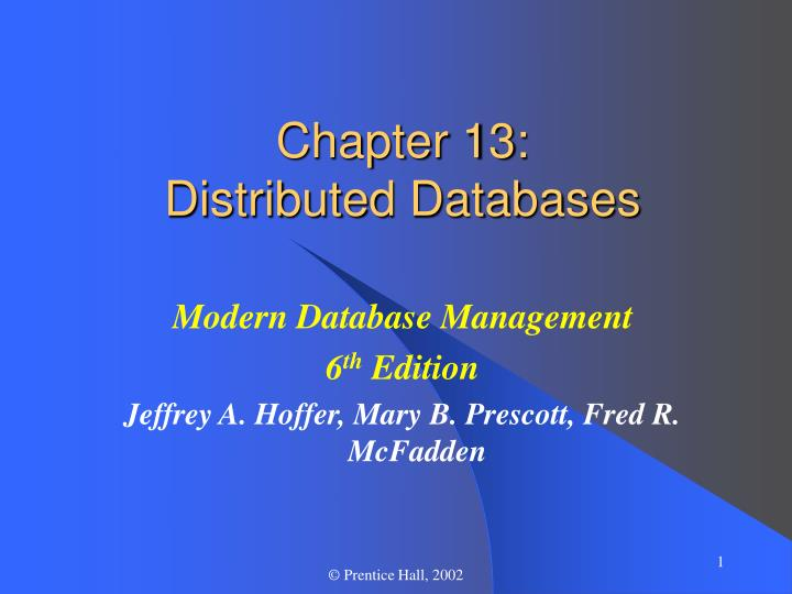 chapter 13 distributed databases n.