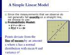 a simple linear model1