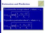 estimation and prediction3
