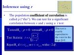 inference using r