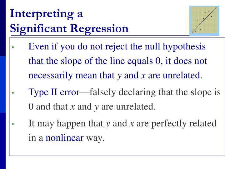 Interpreting a
