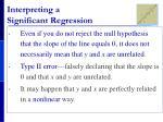 interpreting a significant regression