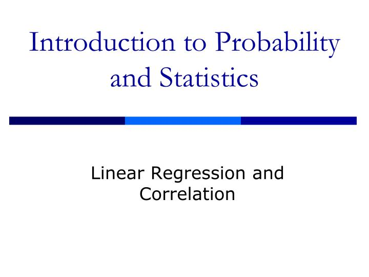 introduction to probability and statistics n.