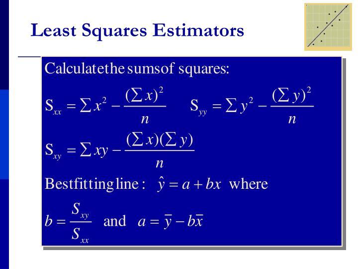 Least Squares Estimators
