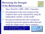 measuring the strength of the relationship1