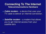 connecting to the internet telecommunications hardware1