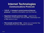 internet technologies communications protocols1