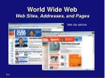 world wide web web sites addresses and pages2