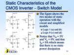 static characteristics of the cmos inverter switch model