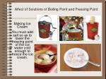 affect of solutions of boiling point and fressing point1