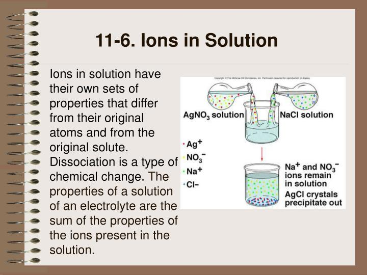 11-6. Ions in Solution