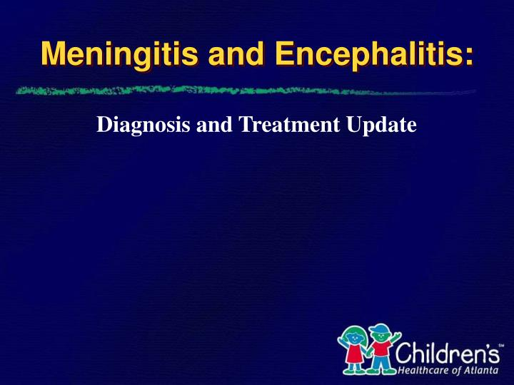 meningitis and encephalitis n.