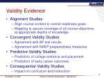 validity evidence