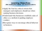 learning objectives after reading this chapter you should be able to