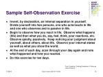 sample self observation exercise