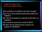 diabetes mellitus datos estadisticos