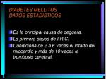 diabetes mellitus datos estadisticos1