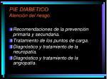 pie diabetico atenci n del riesgo
